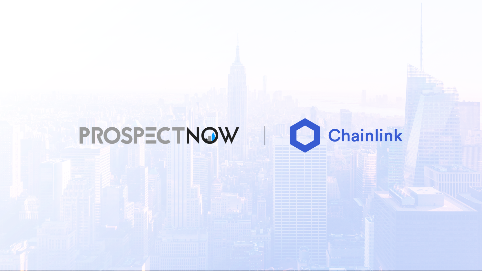 ProspectNow and Chainlink Logos